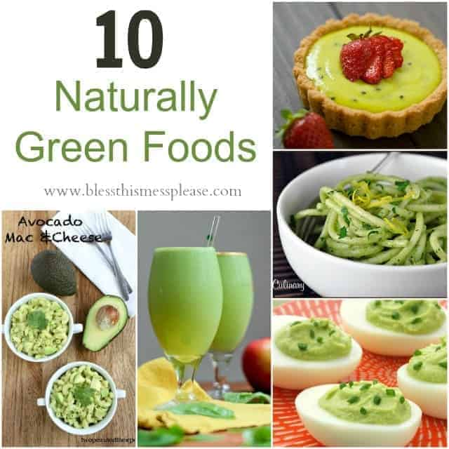 10 naturally green foods