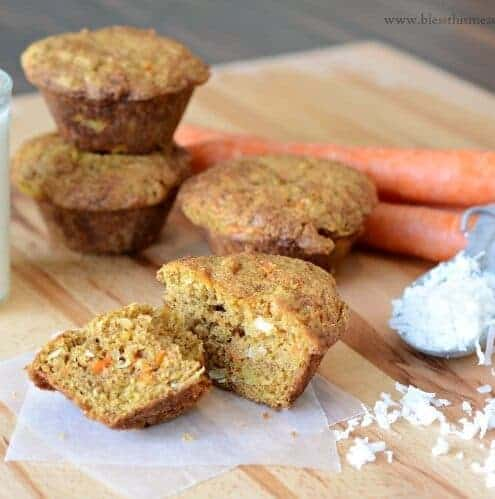 This recipe for delicious healthy moist carroty muffin (AKA Morning Glory Muffins) was a hit.