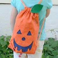 DIY No-Sew Pumpkin Backpack