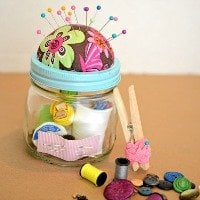 DIY Sewing Kit Gift in a Jar