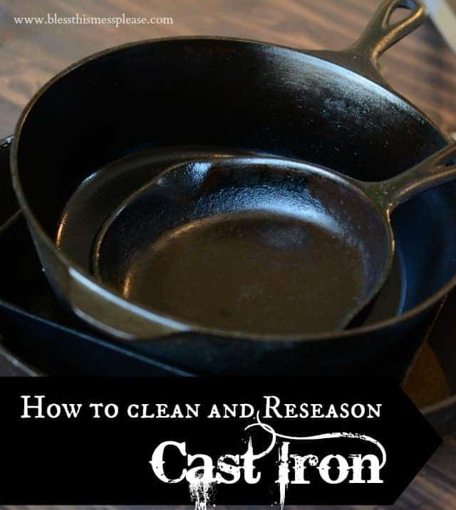 how to clean and reseason cast iron bless this mess. Black Bedroom Furniture Sets. Home Design Ideas