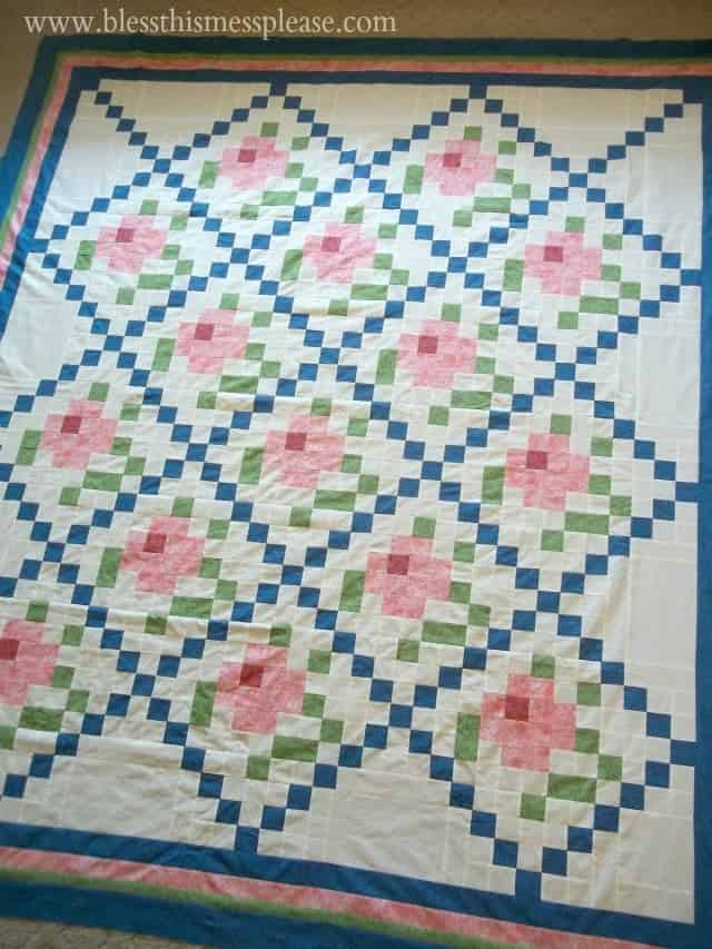 Mosaic Rose Quilt Top - Bless This Mess