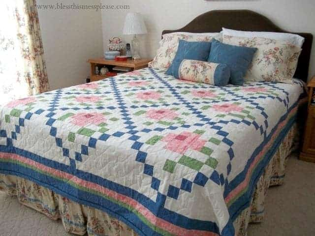 Mosaic Rose Quilt Top