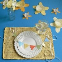 Mini Paper Bunting with Spring Table Decor