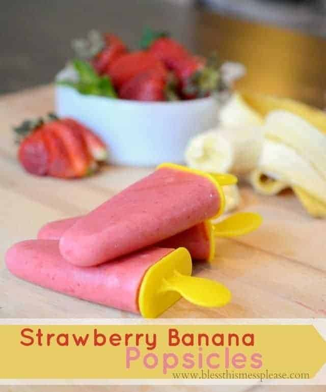 strawberry banana popsicles 2