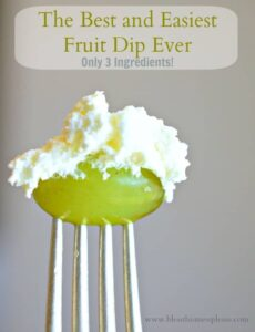 Picture of fruit dip on a grape
