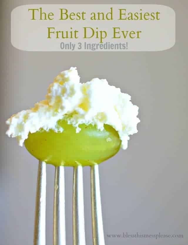 3 ingredient fruit dip, cream cheese fruit dip, fruit dip with marshmallow fluff