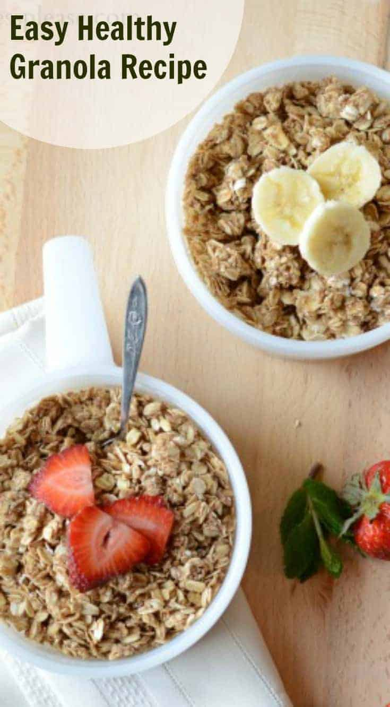 Healthy Homemade Granola | Easy Make and Bake Granola