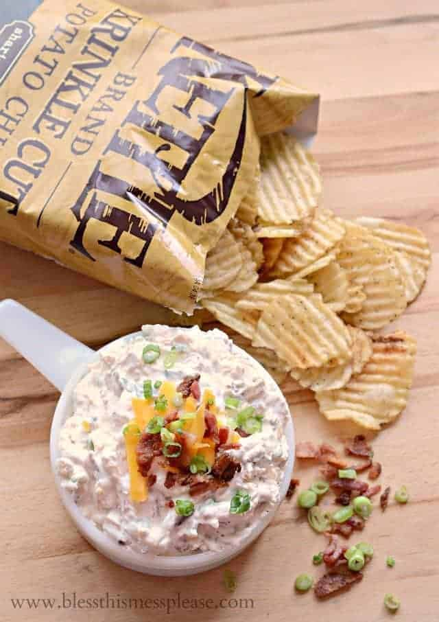 Kettle Brand chips with dip