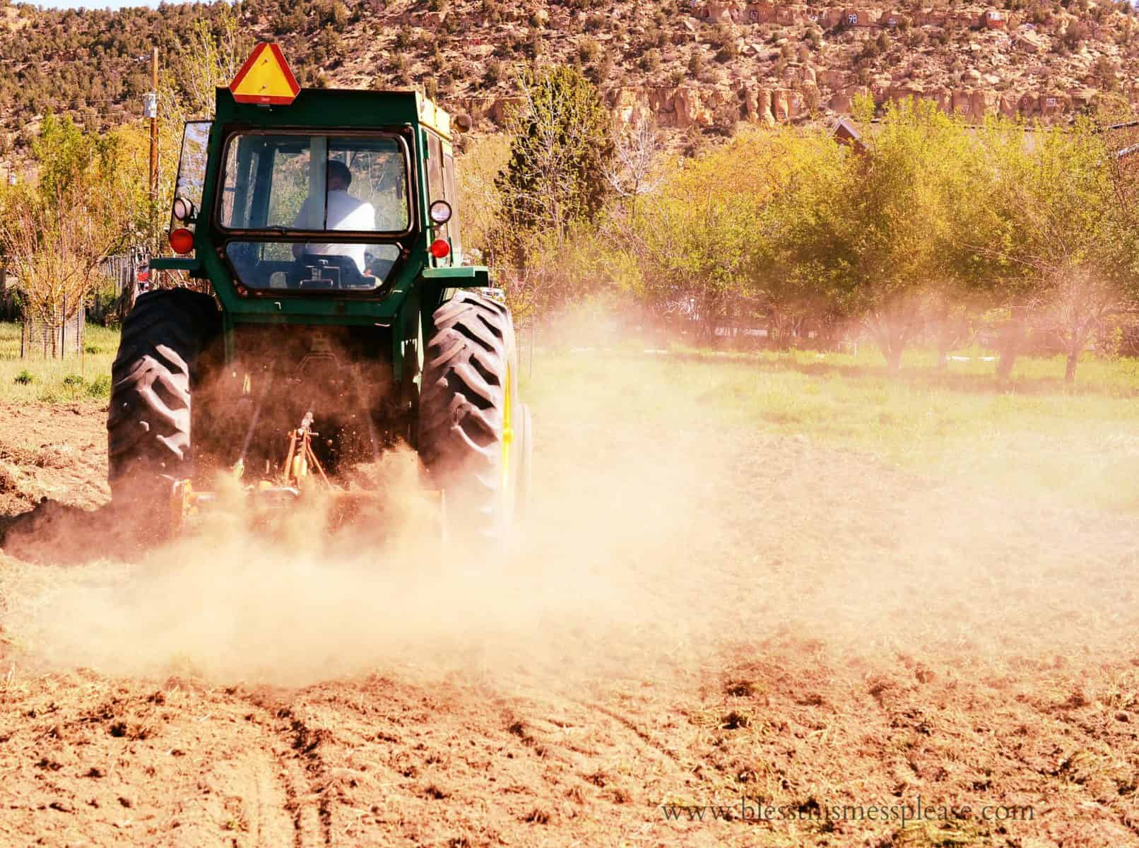Tractor and Dust Image