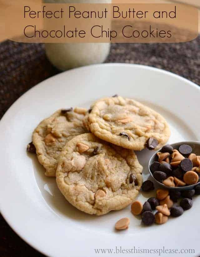 Perfect Peanut Butter Chocolate Chip Cookies that freeze well, always have them on hand for when you need a quick treat to take to a party!