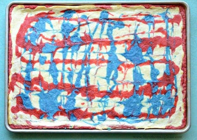 red white and blue cheese cake bars1