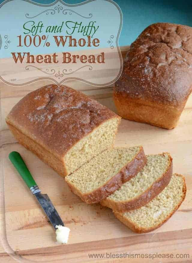 Whole wheat bread that's soft and fluffy!