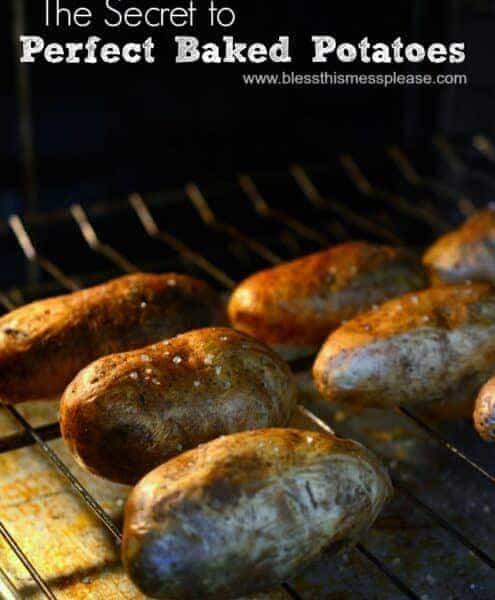 baked potatoes image