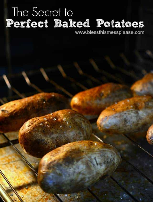 perfect baked potatoes, How to bake a potato