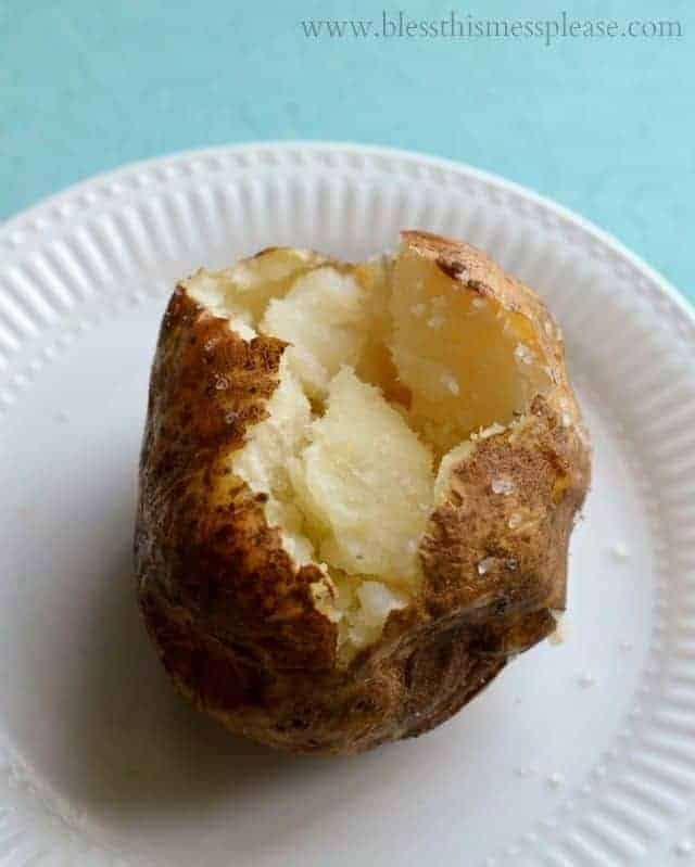 perfect baked tater, how to bake a potato