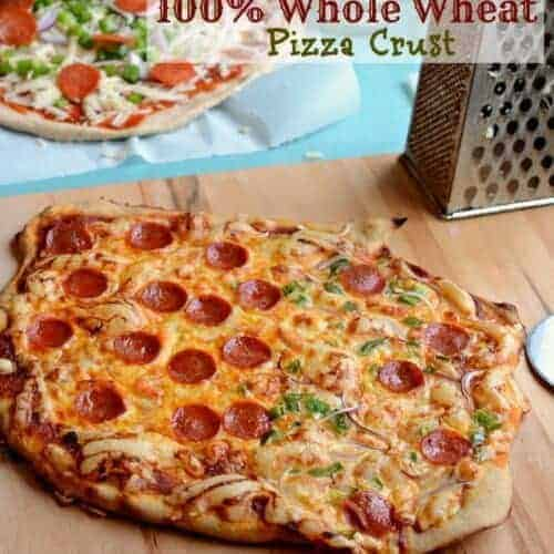 100% Whole Wheat Pizza Crust
