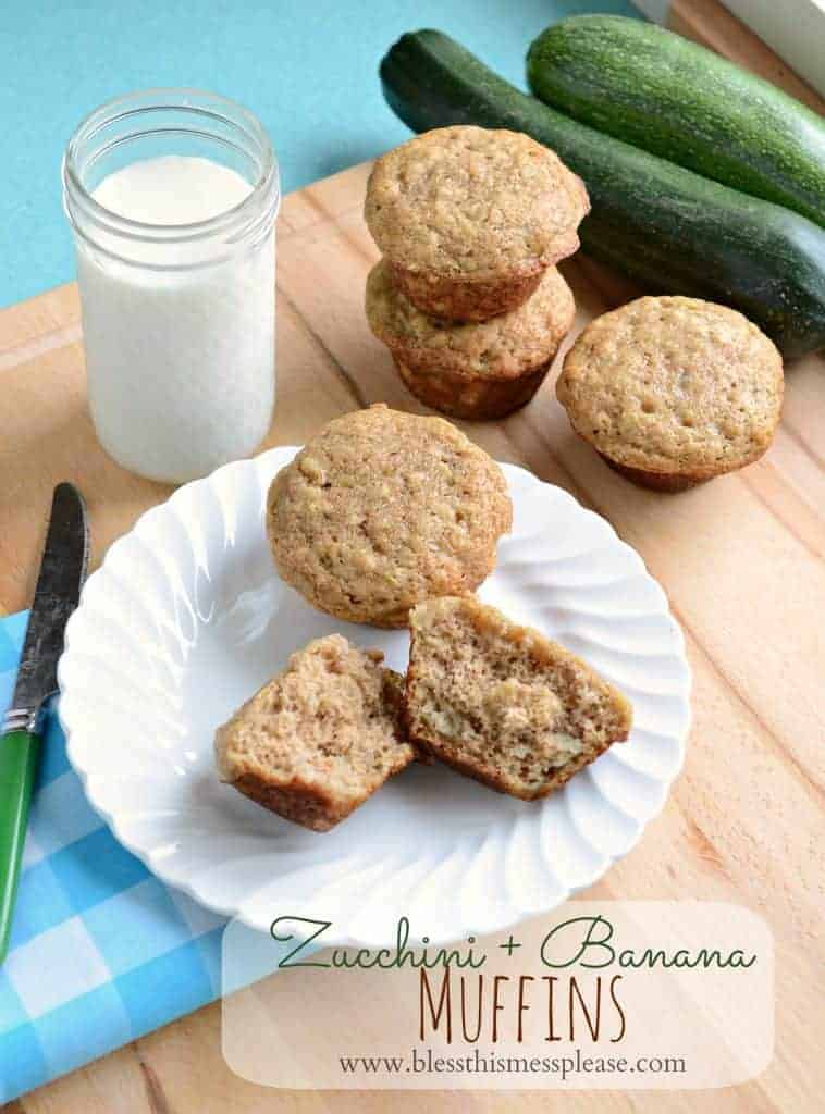 banana and zucchini muffins