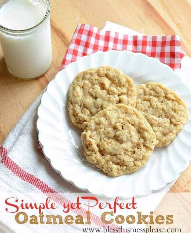 We all need a simple oatmeal cookie recipe that turns out perfect every time. Try this easy, kid approved recipe next time you need a cookie fix!