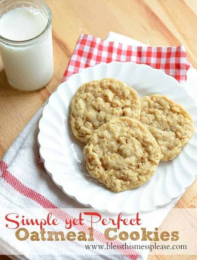 oatmeal cookies with words