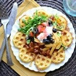 Cornbead Waffles with Chili