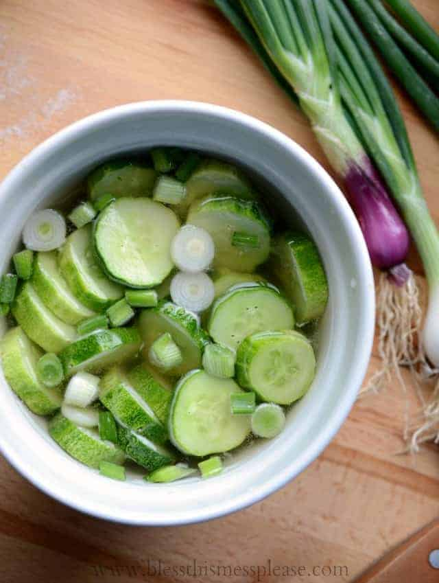 Quick Pickled Cucumbers - Refrigerator Pickles - Bless ...