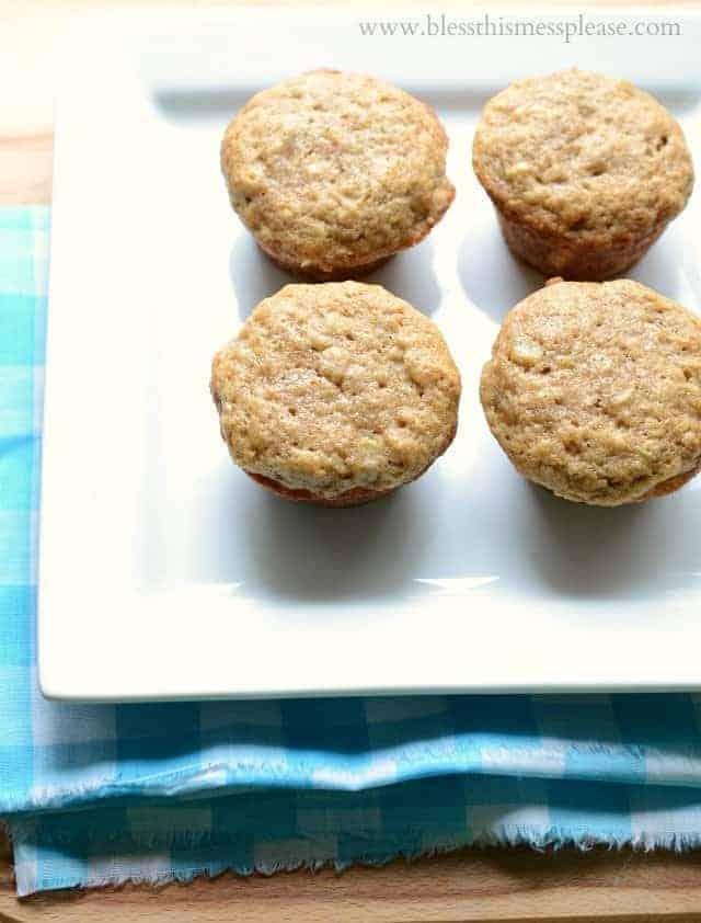 zuchinni banana bread muffins