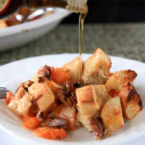 Butternut Squash and Ginger Bread Pudding from Wholefully