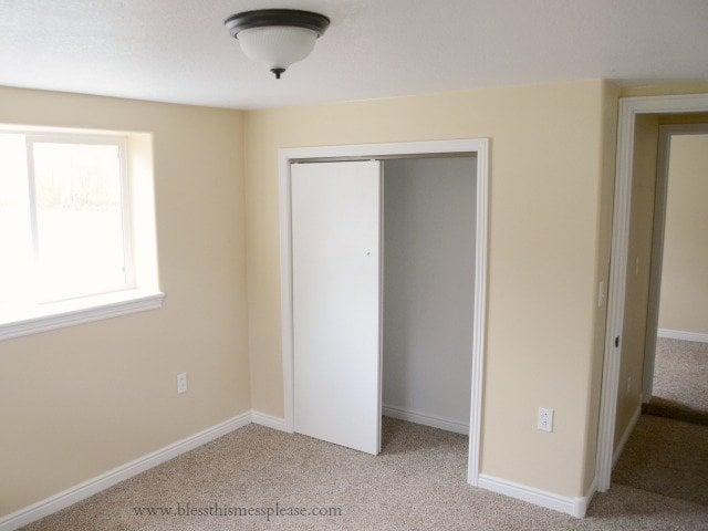 bedroom downstairs, open floor plans