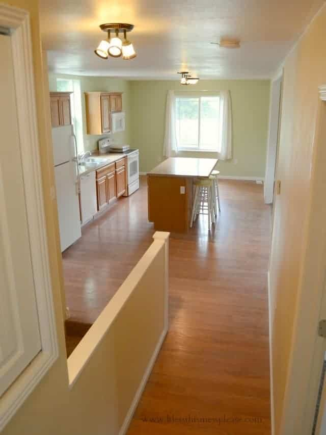 down the hall, open floor plans