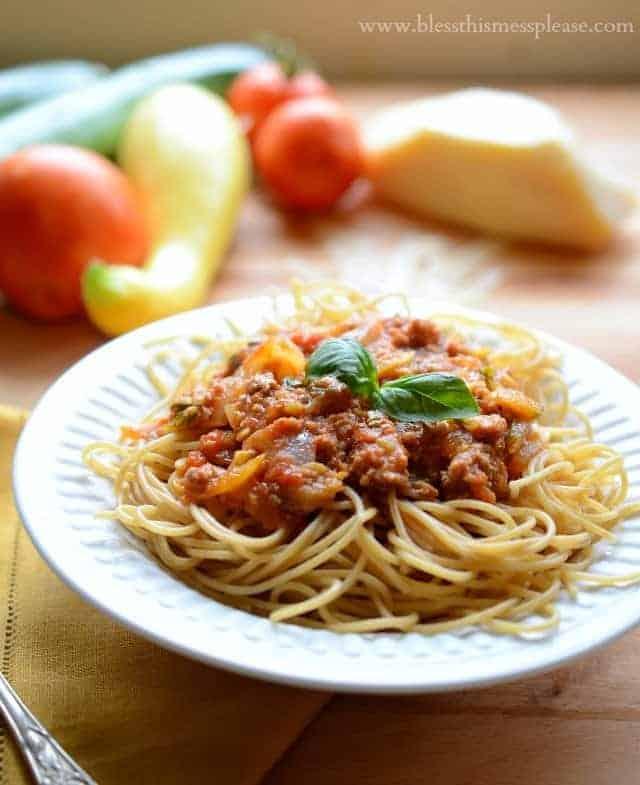 garden vegetable pasta