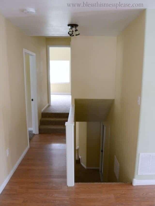 hall, open floor plans