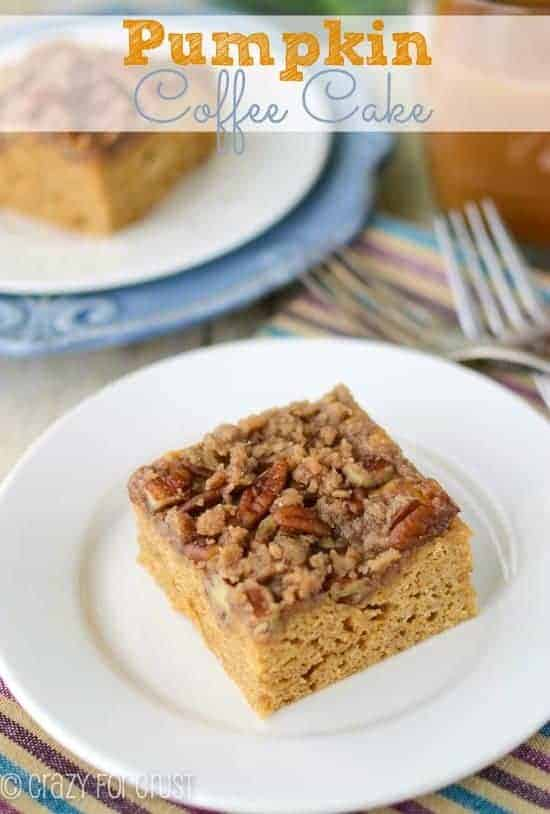 pumpkin-coffee-cake, A dozen amazing pumpkin recipes collected at www.blessthismessplease.com