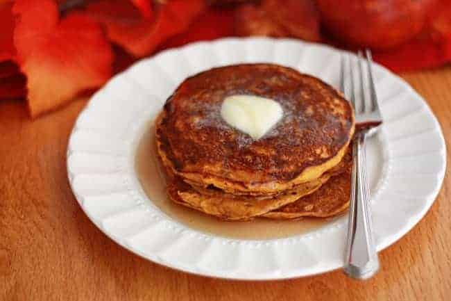 Pumpkin Buttermilk Pancakes from One Lovely Life
