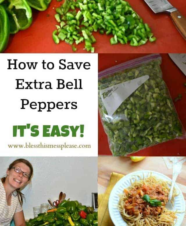 How to save green peppers – the best and easiest way!