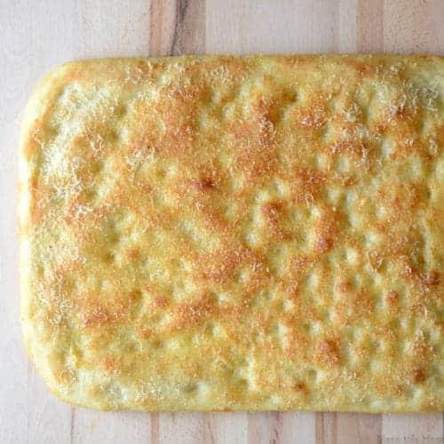 Loaf of parmesan focaccia bread