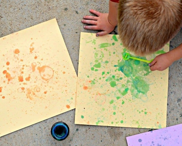 Bubble Blowing Craft for Kids