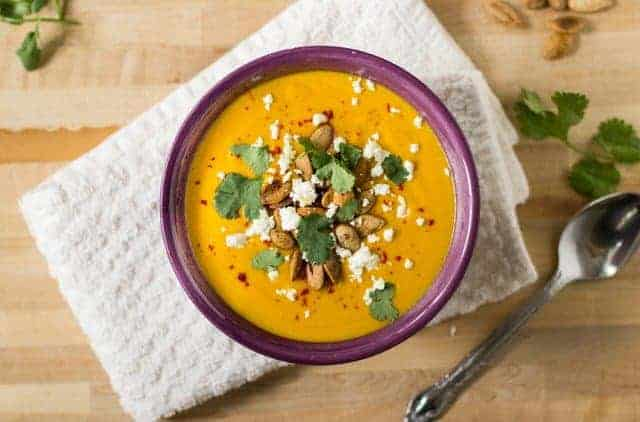 Smoky Sweet Potato Apple Soup