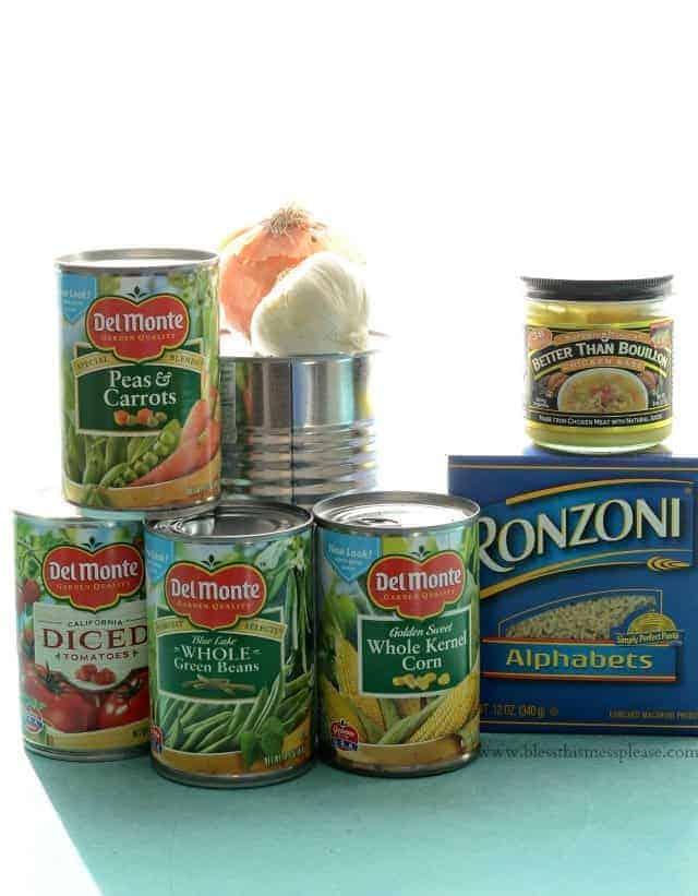 Alphabet soup ingredients