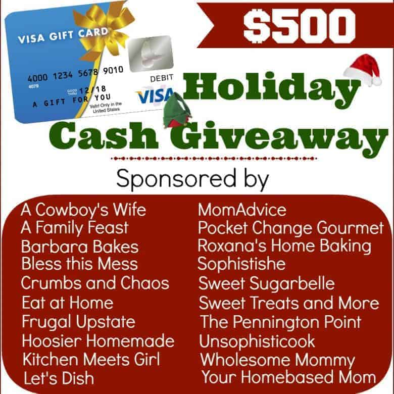 Holiday Cash Giveaway for You!