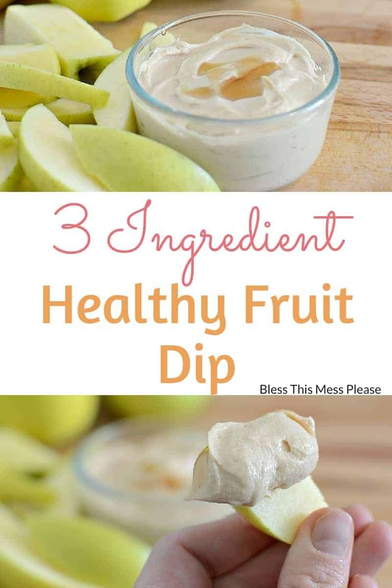 3 Ingredient Healthy Fruit Dip