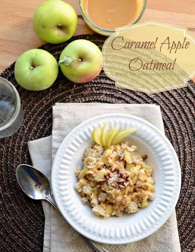 Quick and Healthy Caramel Apple Oatmeal