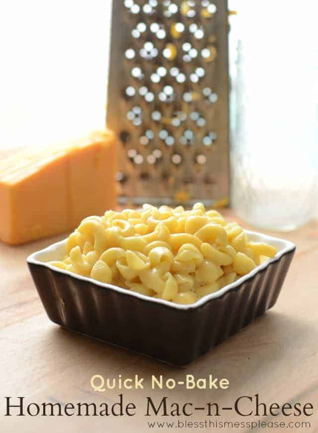 Easy no-bake homemade Mac-n-Cheese made with real ingredients and no ...