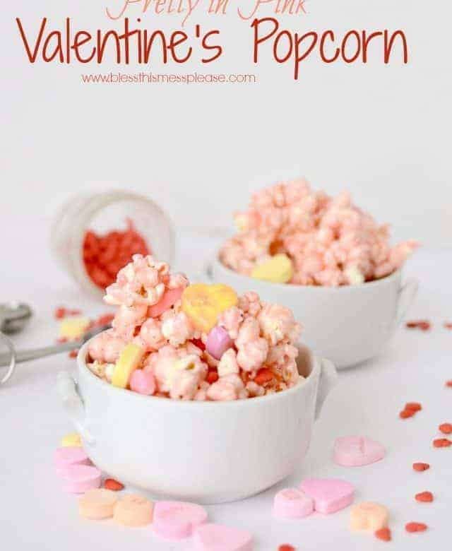 Pretty in Pink Valentine's Popcorn