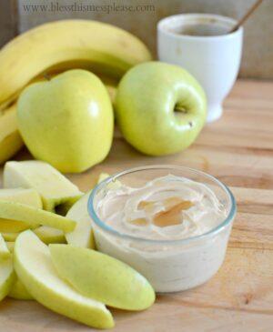 Image of healthy fruit dip