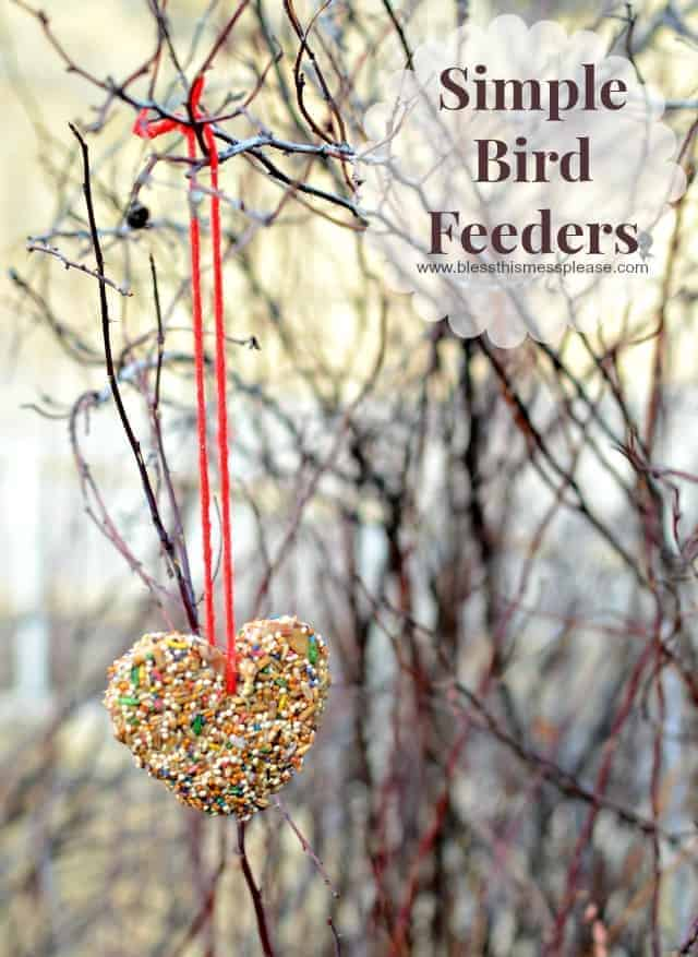 DIY Bird Feeders is a simple and fun activity for kids and families to do together.
