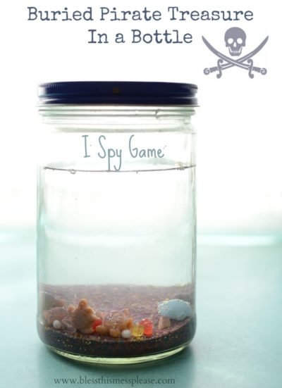 Pirate Buried Treasure in a Bottle Game that your kids will love!
