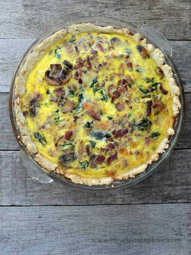 Lightened Up Spinach Bacon Quiche Bless This Mess