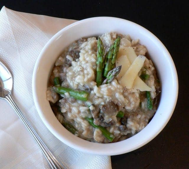 Sausage Asparagus and Mushroom Risotto