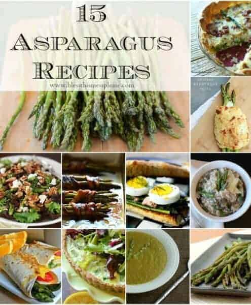 15 delicious asparagus recipes just in time for spring- simple roasted asparagus, risotto, salads, pasta, and more!